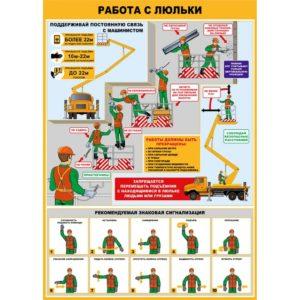Плакат работа с люльки