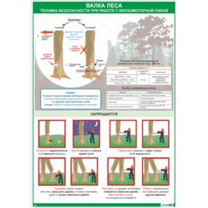 Плакат валка леса