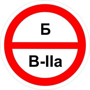 Знак категорийности помещений б-в2а
