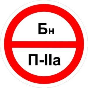Знак категорийности помещений бн-п2а