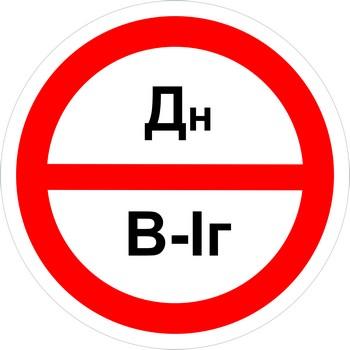 Знак категорийности помещений дн-в1г