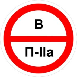 Знак категорийности помещений в-п2а