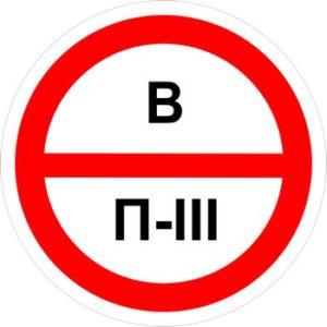 Знак категорийности помещений в-п3