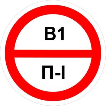 Знак категорийности помещений в1-п1