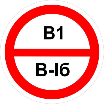 Знак категорийности помещений в1-в1б