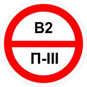 Знак категорийности помещений в2-п3