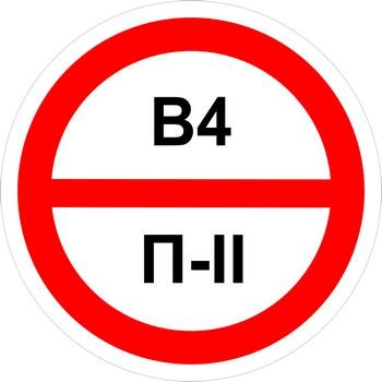 Знак категорийности помещений в4-п2