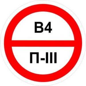 Знак категорийности помещений в4-п3