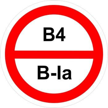 Знак категорийности помещений в4-в1а