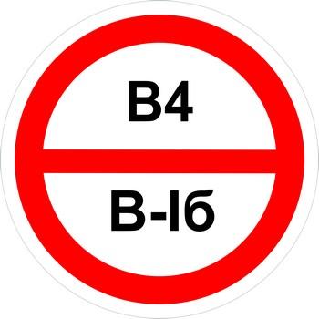 Знак категорийности помещений в4-в1б