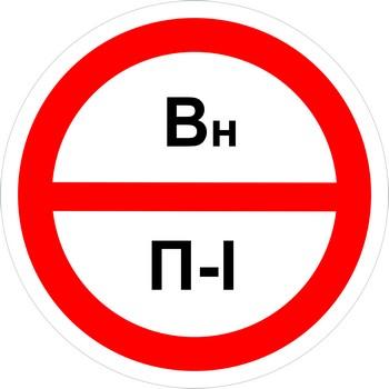 Знак категорийности помещений вн-п1